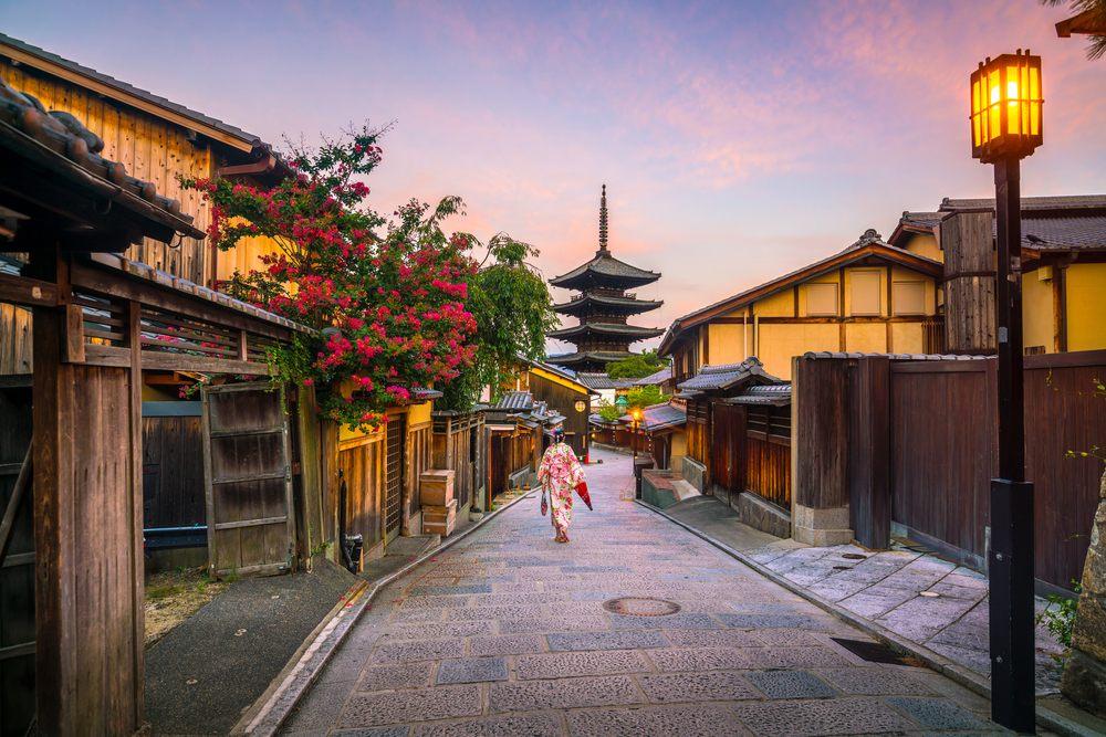 Vue sur une rue du quartier Gion