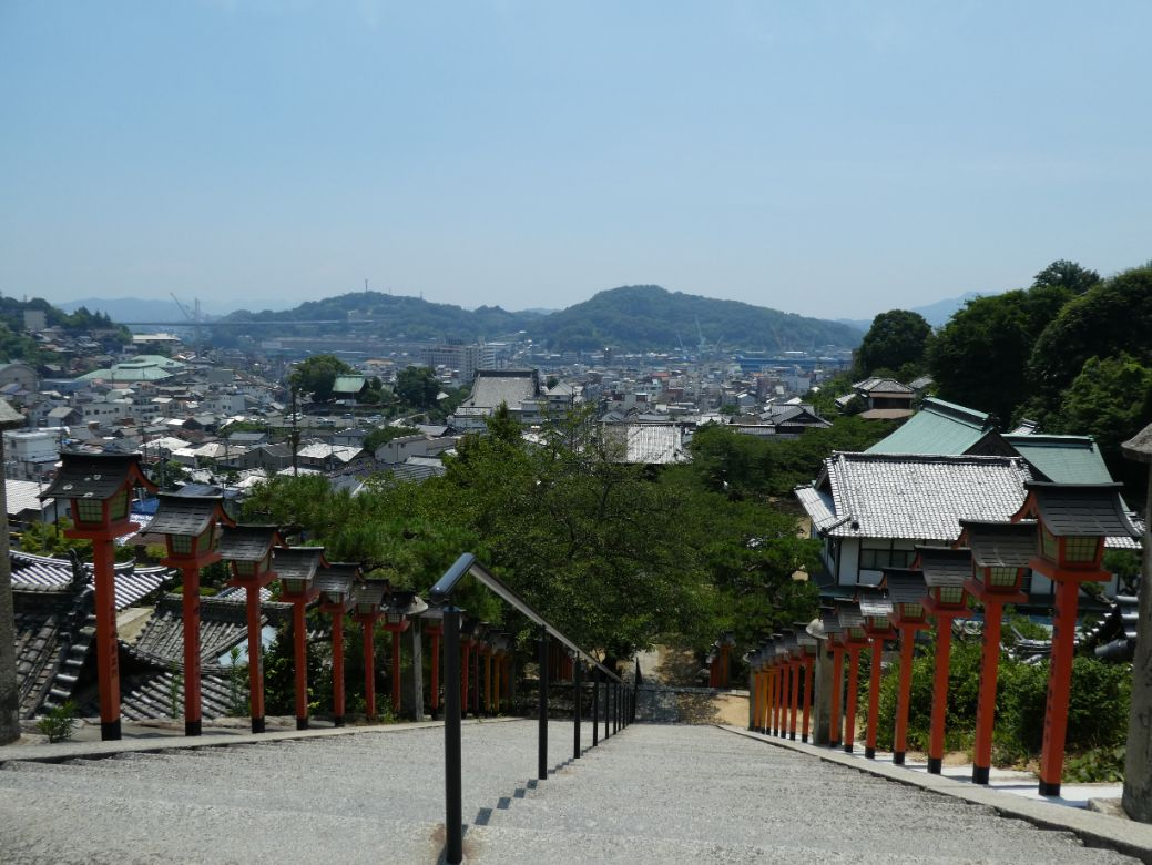 View from Saikoku-ji temple