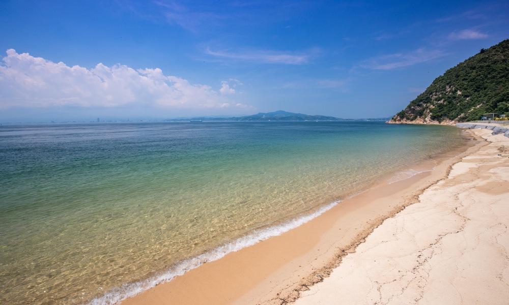 Oshima sennenmatsu beach