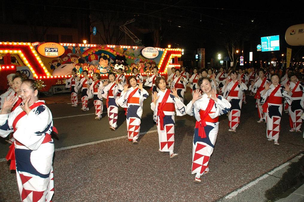 Les danseuses du festival Hi no Kuni