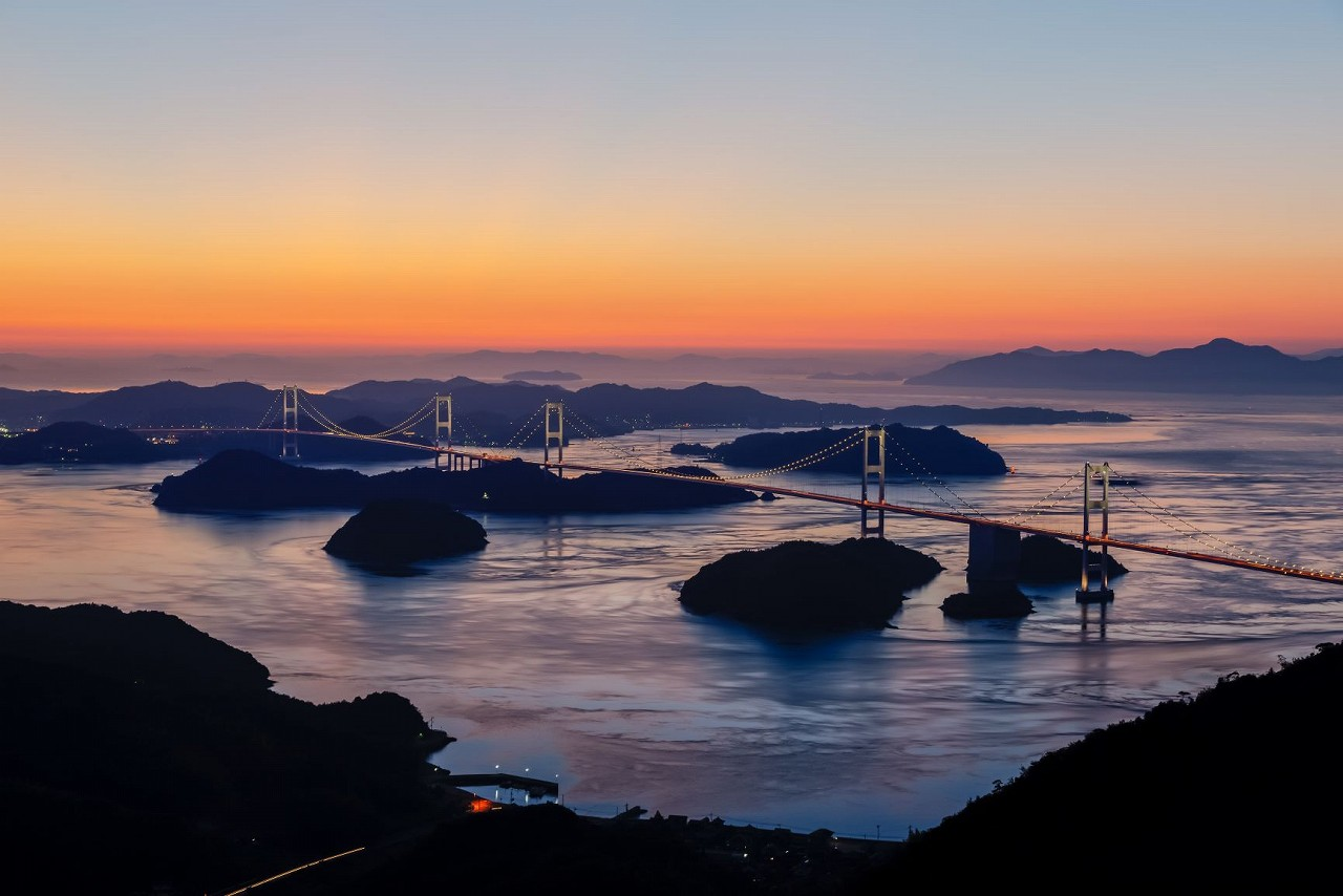 The Shimanami Kaido Cycling Road in the Seto Inland Sea