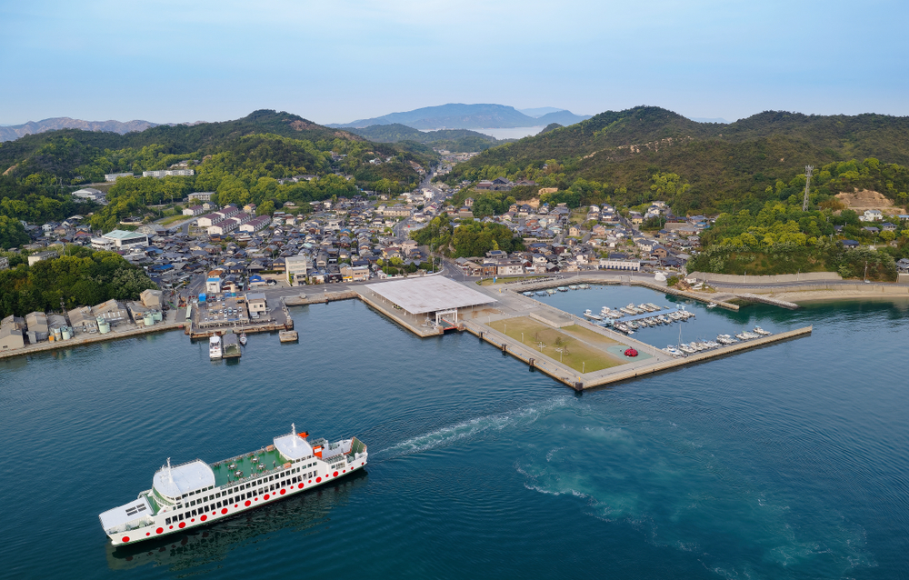 Miyanoura port in Naoshima