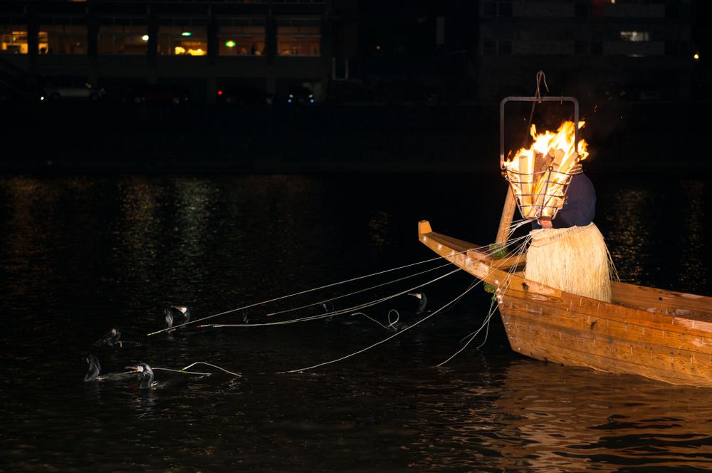 Pêche au cormoran de la rivière Nagara
