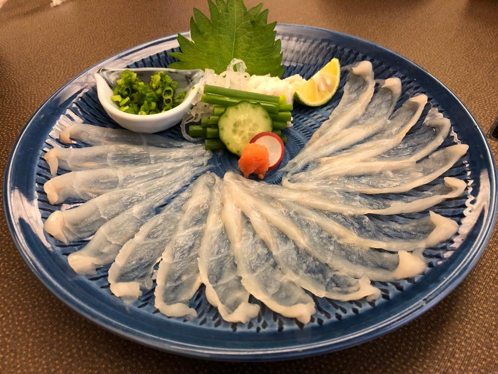 Sashimi de fugu