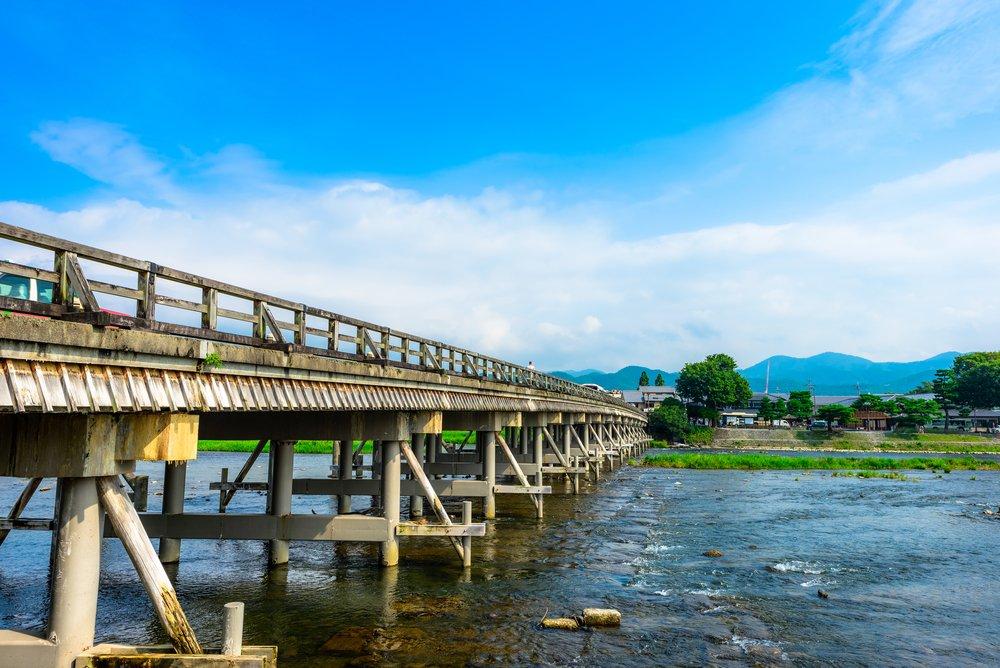 Le pont Togetsukyo de Arashiyama