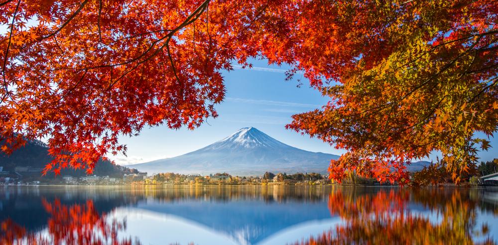 Le mont Fuji et le lac Kawaguchiko