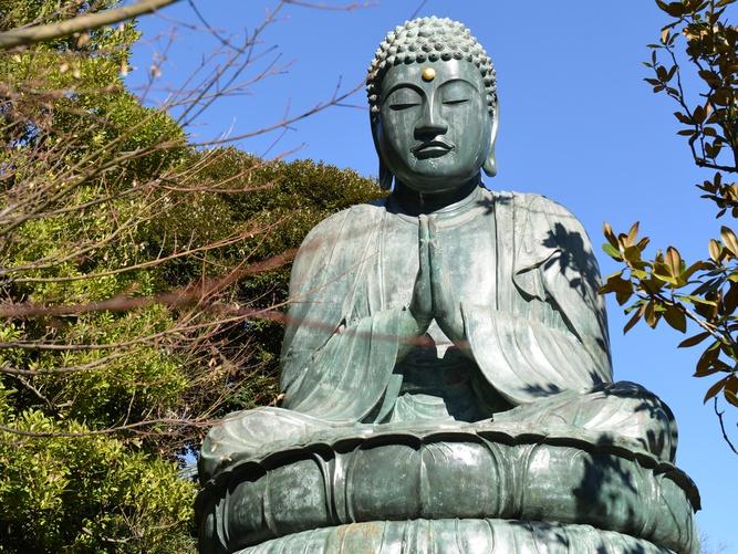 Le bouddha géant de Tenno-ji