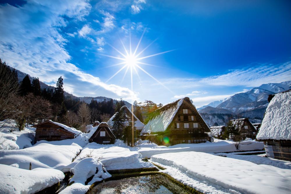 Profiter des magnifiques paysages enneigés