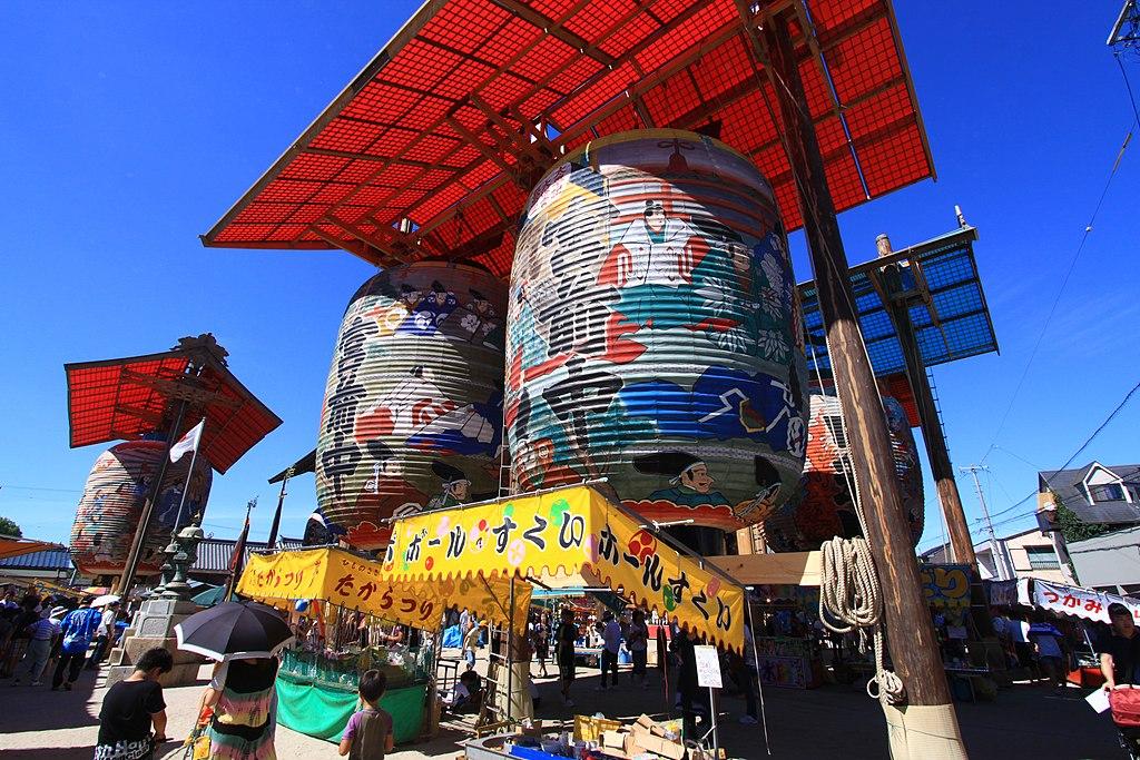 Les lanternes géantes de Mikawa Ishiki