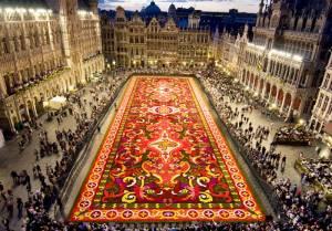 ベルギー旅行・ツアーのトリビア フラワーカーペット(5)