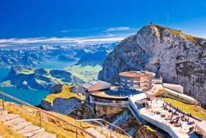 スイスおすすめの展望台その2 中央スイス(ルツェルン地域)、マッターホルンを望むツェルマット、ヴァリスアルプス(ヴァレー州)、アレッチ氷河