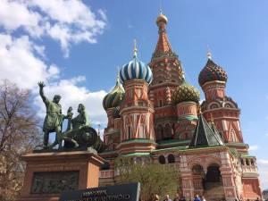 青空のもとでロシアを満喫できました!