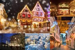 3か国 欲張りクリスマスマーケット巡り+アルザス専用車ワイン街道&ドイツ世界遺産の旅 10日間(ドイツ, スイス, フランス)