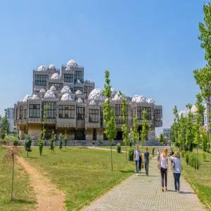ユニークな現代建築~コソヴォの国立図書館