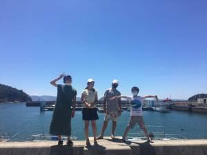 イングリッシュプログラムin直島 3日目 海水浴、スイカ割り、BBQ、星空観察