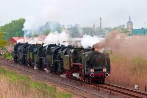 ウォルシュテインの蒸気機関車パレード【ポーランド情報】