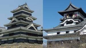 日本の美しいお城 その1 松本城と犬山城