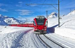 氷河!ベルニナ急行列車!絶景☆スイス鉄道の旅