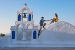 ギリシャハネムーン(新婚旅行) ♡二大人気のミコノス島&サントリーニ島にゆったり滞在♡ 現地6日間