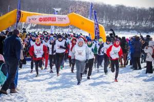 ロシアらしい??冬のマラソン大会