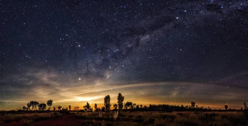 ウルル エアーズロックの星空