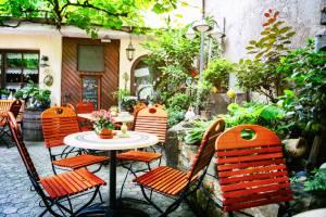 ウィーンの中庭が素敵なレストラン♪