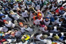 ウラジオストクの海上を走る アイスランマラソン3日間