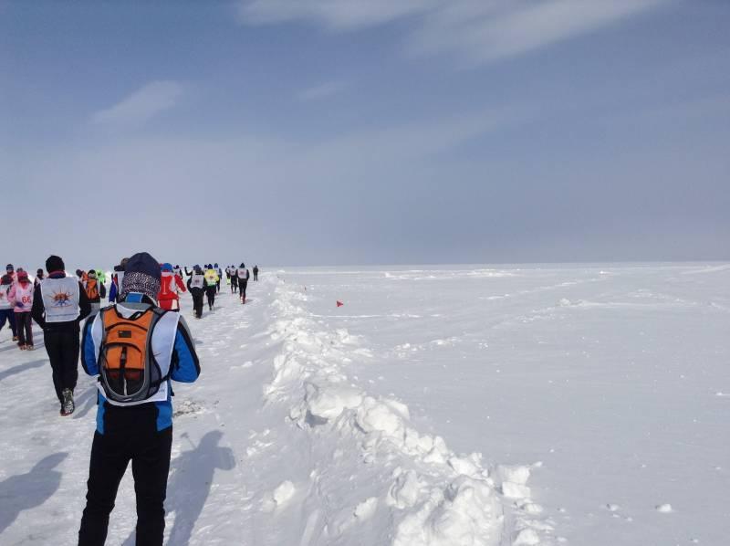 お陰様で氷の上を走って?いや歩いて来ました。