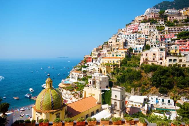 陽光の南イタリア ナポリ、カプリ島、アマルフィ海岸