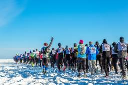 世界遺産の湖上を走る バイカル湖マラソン3日間