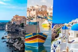 地中海3つの島を巡るヨーロッパ周遊絶景紀行!コルシカ島 、マルタ島 、サントリーニ島 9日間