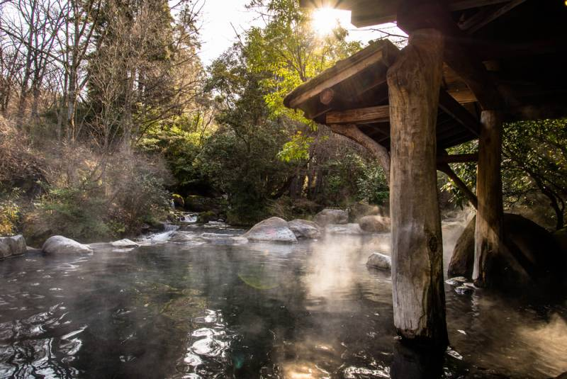 Relaxing your mind and body at the Japanese hot springs