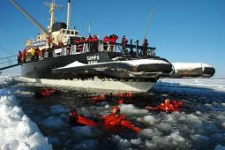 ロヴァニエミでオーロラハント 砕氷船とスノーホテル7日間