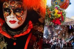 春の祭典2019フランス・イタリア4つのカーニバル周遊(ニースカーニバル、ベネチアカーニバル、マントンレモン祭、イヴレアオレンジ合戦)10日間