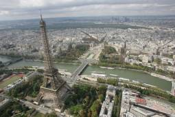 ヘリコプター遊覧付きパリ観光4日間|パリの夜景を空から堪能