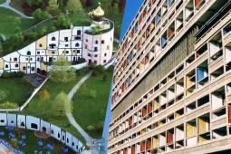泊まる芸術フンデルトヴァッサーの世界 vs 建築の父ル・コルビジェの世界(ログナーバートブルマウ宿泊×ユニテダビタシオン宿泊) 10日間