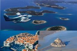 ヨーロッパ周遊 水上機で巡るクロアチア絶景+セスナ機で遊覧モンサンミッシェル 10日間(ドブロヴニク・ベネチア ・モンサンミシェル・パリほか)