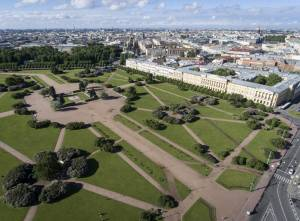 サンクトペテルブルグの巨大な広場