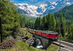 【夏季限定】4大急行列車とパーム・エクスプレスの旅🌄贅沢スイスハネムーン11日間