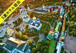ロシア2大都市とガイドと巡るキジ島&黄金の環9日間