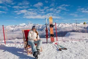 ソチの雪原でジャンプ!