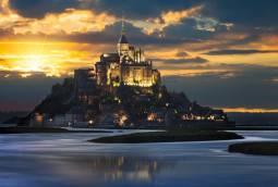 [パリ滞在5日間]モンサンミッシェル夜景&ランス大聖堂訪問☆冬の美しいフランス