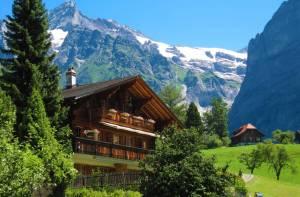 スイスの貸別荘で暮らすように滞在