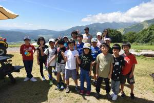 白馬English Camp 2日目(7月30日) 山の上の青空教室
